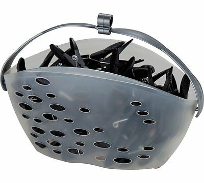 New HOME Line Basket with 50 Clothes Pegs Packed In A Superior Quality Black