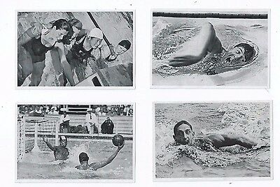 4 x 1936 Olympics Berlin Water Polo  Swimming Swimmers Freestyle