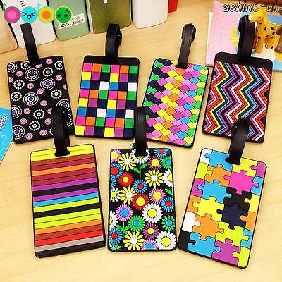 Travel Baggage Tags Luggage lot Suitcase Bag Round Name Address ID Labels