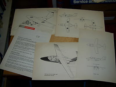 Saab 105 Twin Jet Trainer Aircraft Press Release & Drawings May 1961