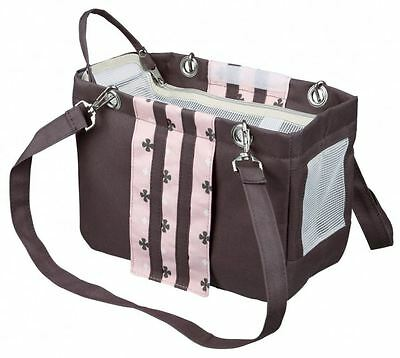 Trixie 28909 Tasche Fina 14 × 20 × 26 cm, taupe/rosa