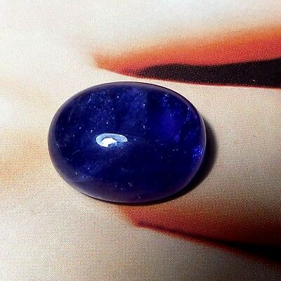 Natural Tanzanite 15.2 Ct 15.9x12.6 mm Oval Shape Cabochon Violet Blue