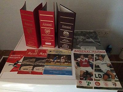 Massive Collection Of Arsenal Programmes Tickets 1940s -2016 Over  3000 Items