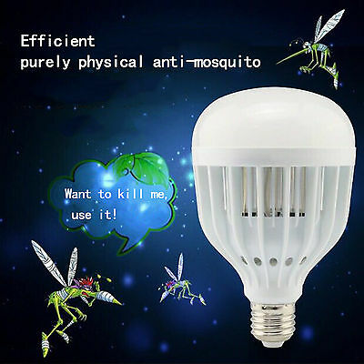 LED Anti-Mosquito Bulb 18W 1000LM 6500K Electronic Insect Fly Lure Kill Bulb AU
