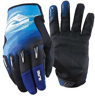 ANSWER ALPHA Blue Dirtbike Gloves ADULT Large Brand New w/Tags