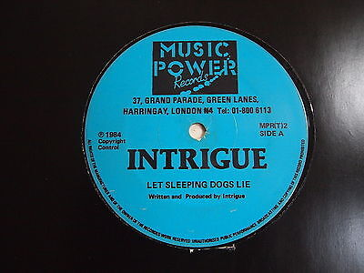 "INTRIGUE - LET SLEEPING DOGS LIE 12"" VINYL Like The Way You Do Rare 1984 Boogie"