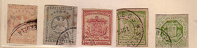 Venezuela: X forgeries; 5 stamps clasicc, used cancelation. VE105