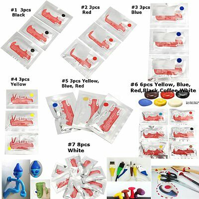 3/6/8 Pcs DIY Mouldable Glue Self-setting Repair Stick Fix Silicone Rubber