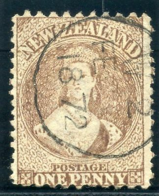 New Zealand 1871 QV 1d brown very fine used. SG 128. Sc 42.