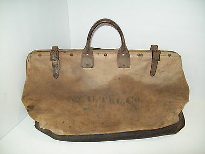 Vintage Western Union Telegraph Co. Lineman's Tool Bag