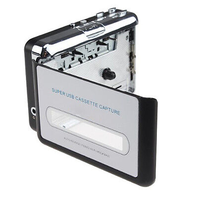 USB Portable Cassette to MP3 Converter Tape-to-MP3 Player with Headphones I2K9