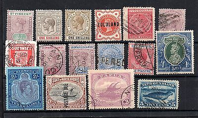 British Commonwealth mint and used collection (16 values) WS4929