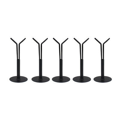 """5Pcs Display Stand Holder Y Type for 1/6 12"""" Action Figures Doll Model Black"""