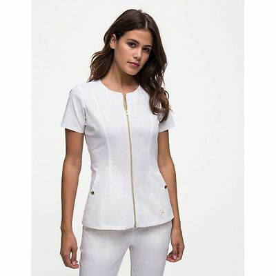 "Tunique Jaanuu ""Biker Top"" Blanc"