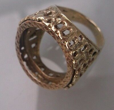 Men's/Women's Vintage Half-Sovereign Ring NO COIN Weight 6.96g Size L Stamped