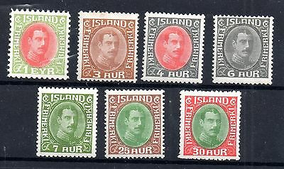 Iceland 1920-31 mint (MH) collection to 35AUR WS4956