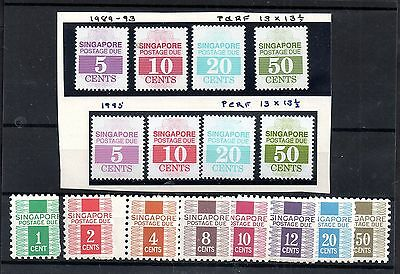 Singapore mint MNH Postage Dues x collection WS4953