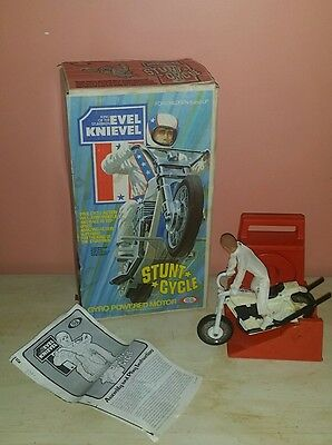 """Evel Knievel Stunt Cycle With Box """"no Reserve"""""""