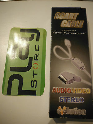 Cavo Presa Scart Audio Video Per Sony Playstation 3 Ps3 Playstation 2 Ps2 Ps One