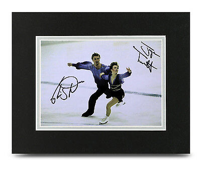 Jayne Torvill & Christopher Dean Signed 10x8 Photo Display Memorabilia Autograph