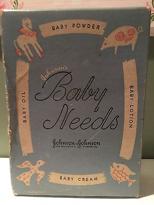 Vintage Johnson and Johnson Baby Needs with Box