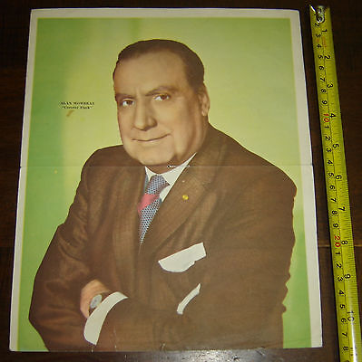 ALAN MOWBRAY Colonel Flack ARGENTINA Canal TV insert  Poster vintage 1960