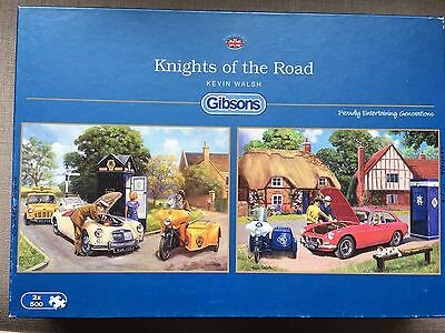 GIBSONS JIGSAW PUZZLE 'KNIGHTS OF THE ROAD' . 2 x 500  PIECES. TOTAL 1000