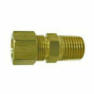 "Brass Compression Fitting. Male Connector. 3/16"" Tube x 1/8"" Pipe."