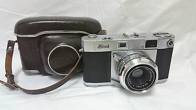 Vintage 1955-1957  Riken Ricoh 500 35mm Film Camera and Case
