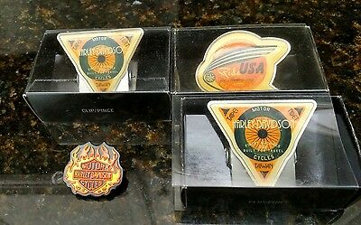 Rare Harley Davidson Paper Clips Lot Of 4 Vintage New Old Stock By Hallmark