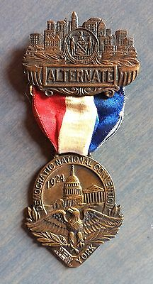 Alternate Delegate Badge To 1924 Democratic National Convention New York