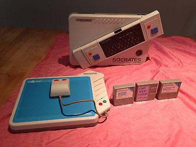Vtech Socrates Video Educational System & 3 Games & Mouse System