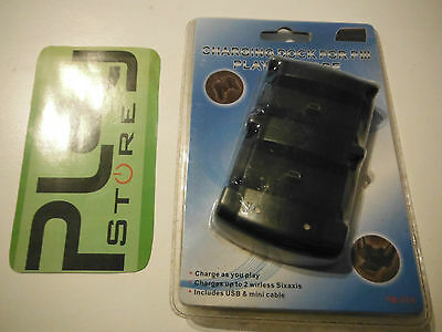 Base Ricarica Dock Charging Station Dual Per Sony Playstation 3 Ps3 Controller