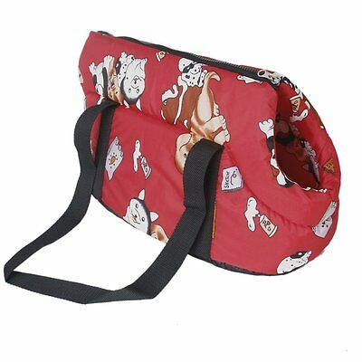 Soft Carry Shoulder travel bag Handbag for Small size dog / cat-red Z4I2