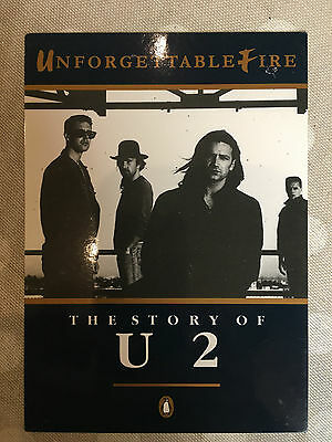 U2 Unforgettable Fire Book UK promo publishers postcard - Very Rare