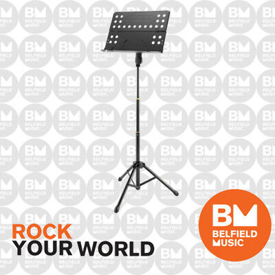 Hercules BS418B Music stand w/ perforated Foldable Desk  - Belfield Music