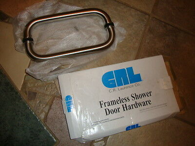 """CRL # CS10X10BS Brushed Stainless 10"""" Solid Glass Mounted Standard Pull Handle"""