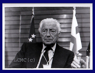 Fotografia Press Photo 1994 Gianni Agnelli A Milano Imprenditore Il Gotha Italia