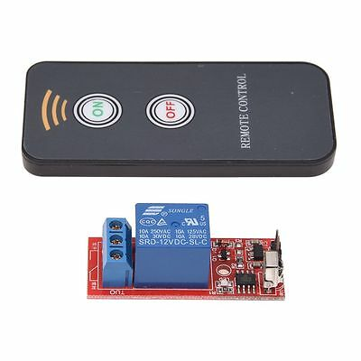 Relay Module 1 channel Remote Control Switch Wireless IR 12V DC FK