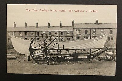 The Oldest Lifeboat in the World The Zetland of Redcar Unused Vintage Postcard