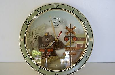 Panclox 1994 Train Quarz Wall Clock  Hourly Sound Effects Excellent