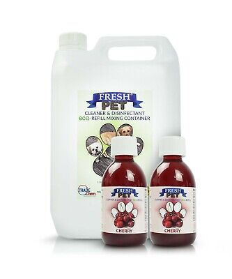 2 x 5L FRESH PET URINE SMELL ODOUR REMOVER  - CHERRY Fragrance - TRADE Chem