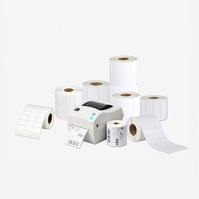 Blank White Self Adhesive Stickers Shipping Printer Label Rolls Address Labels