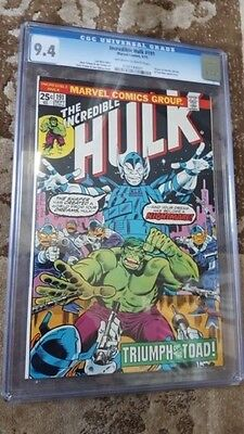Incredible Hulk  #191 Cgc 9.4 White Pages Herb Trimpe Cover 1975