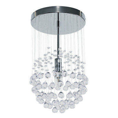 Modern Silver Chrome Acrylic Crystal Ceiling Pendant Light Fitting Chandelier