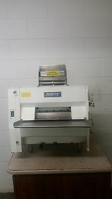 Anets Dough Roller Double Pass Table Top Tested 115 Volt No Tag