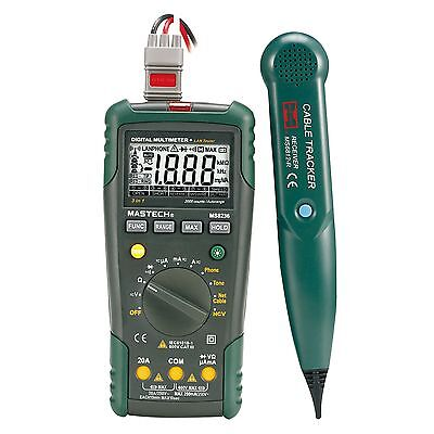 Digital Multimeter LAN Tone Phone Detector Cable Tracker Voltage Tester SY P7U4