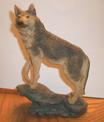 Wild Wolf On Standing Rock Statue (Resin)