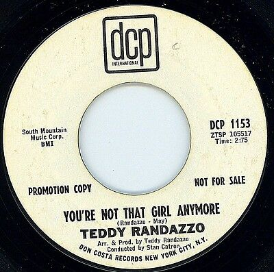 Northern Soul - Teddy Randazzo - You're Not That Girl Anymore ** LISTEN **