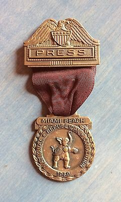 Press Badge To 1968 Republican National Convention In Miami